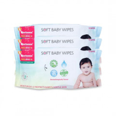 Morison Baby Wipes 72s (Pack of 3)