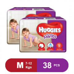 Huggies Wonder Pants Medium Size Diapers (Pack of 2)